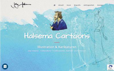 Karikaturist Jörg Halsema