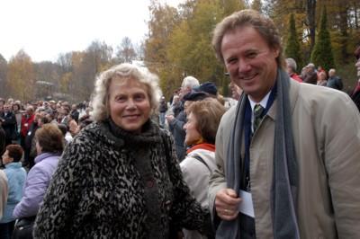 Frau Reiml, unser 150. Mitglied im Förderverein Landesgartenschau Reichenbach 2009 , wurde zum Tag der offenen Baustelle von Herrn GMD Fraas herzlich begrüßt.