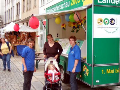 Werbung für die 5. Sächsische Landesgartenschau 2009 in Zwickau