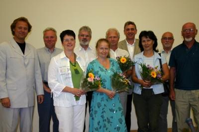 Vorstandsmitglieder des Fördervereins Sächsische Landesgartenschau Reichenbach 2009 e.V.