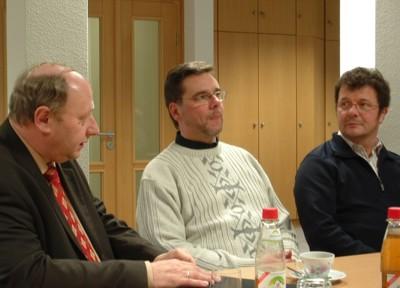 Von links: OB Dieter Kießling, Frank Kupfer und  Andreas Kretschmar