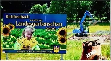 Werbetafel Landesgartenschau