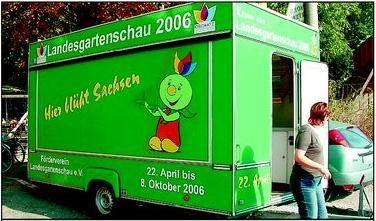 Wagen des Fördervereins der Landesgartenschau