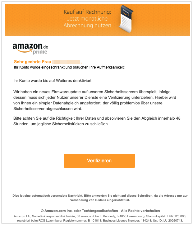 2019 07 23 Phishing Amazon